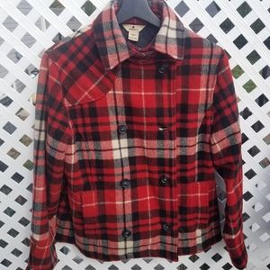 Woolrich plaid wool coat shacket